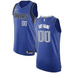 b65f98a6f05 Dallas Mavericks Nike Authentic Custom Jersey Royal - Icon Edition Dallas  Mavericks
