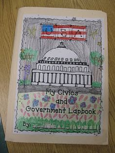 Third Grade Thinkers: Social Studies Lapbooking. Important facts, and the branches of government.  Have an envelop in the folder that contains vocabulary words-students can use these cards to play memory games.