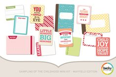 Amazon.com: Project Life by Becky Higgins Childhood Mini Kit - Mayfield Edition
