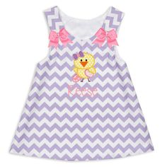 Girls Lavender Chevron Aline Dress – Lolly Wolly Doodle