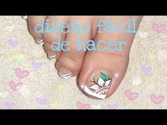 Cute Toe Nails, Cute Toes, Toe Nail Art, Christmas Nail Art Designs, Christmas Nails, Pedicures, Youtube, Cement Crafts, Designed Nails