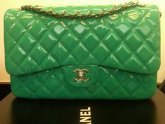 Spring Green Chanel Classic Bag