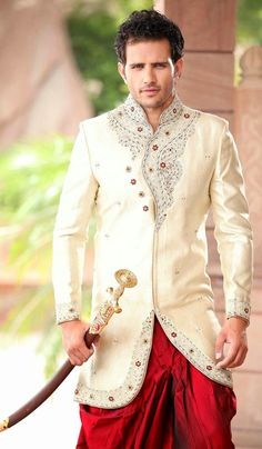 Fabulous Wedding Patiala Sherwani is the best choice for the Bridegroom, Look best in your special day with this exclusive collection from Varietyhaat Patiala, Churidar, Salwar Kameez, Wedding Sherwani, Indian Groom, Exclusive Collection, Indian Ethnic, Online Clothing Stores, Wedding Designs
