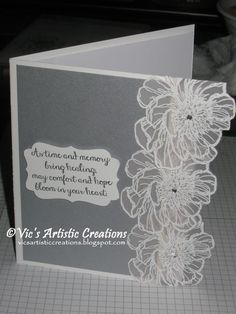 Sympathy Card #stampinup #bloomwithhope #embossedflowers #decorativelabel