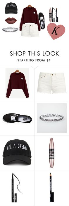 """💜"" by rainbowkat18 on Polyvore featuring Yves Saint Laurent, Vans, Forever 21, Maybelline, Kat Von D and NYX"