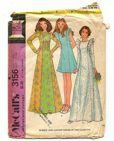 Prairie Dress Vintage 70s Sewing Pattern by TheBeetlesNeedles, $7.00