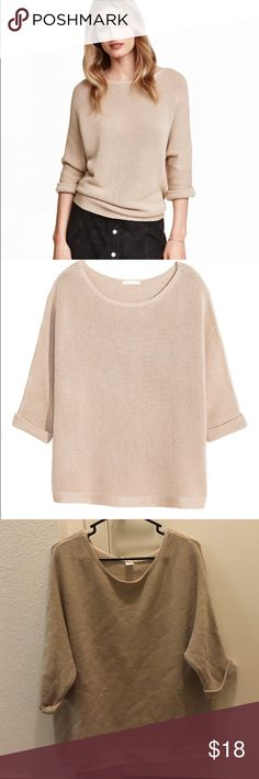 Purl-knit sweater Purl-knit sweater from H&M. In great condition! Worn once. H&M Sweaters Crew & Scoop Necks