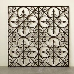 Hand Made Wrought Iron Wall Art is a unique metal wall hanging with a tuscany style. Visit Antique Farmhouse for more metal wall art.
