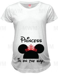 f806a4bc43ec2 Princess is on her way, maternity shirt, Married With Mickey Baby Number 2,