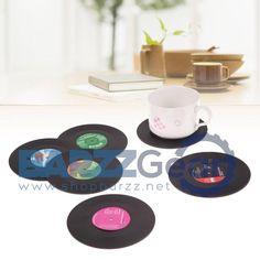 Vinyl CD Record Coasters Cup Mat Creative Retro Style Kitchenware  #beer #cocktail #barrescue #wine #beach #nightlife #happyhour #weekend #salboken #barzz @barzz