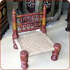All solid Indian rosewood finished in aged distrssed color. Tribal Decor, Tribal Art, Guest Bedroom Home Office, Floor Chair, Moroccan, Indian, Handmade, Interiors, Furniture