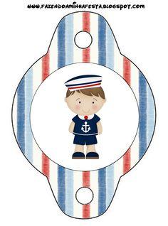 Oi Pessoal!!!!! Mais um kit para menino! Kit de Marinheiro Azul e vermelho, para decorar a festa do seu Garotão! O kit é completo com c... Queen Art, Nautical Party, Binder Covers, Family Guy, Clip Art, Fictional Characters, Dina, Business, Red