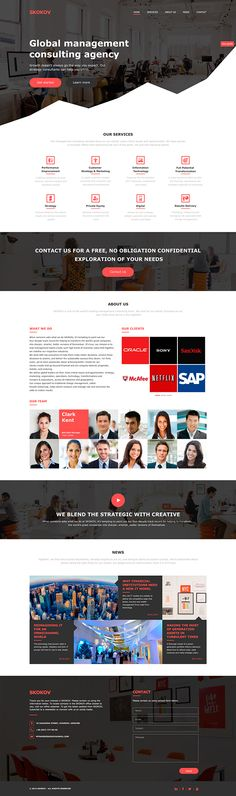 SKOKOV Profit - Free Business PSD Template on Behance
