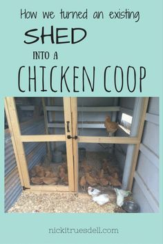 We came up with a plan to convert our existing shed into a chicken coop - and I have lots of photos to show you how it was done!