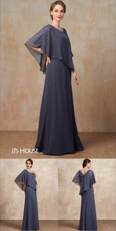 Long Dress Design, Stylish Dress Designs, Stylish Dresses, Simple Long Dress, Simple Gowns, Work Dresses For Women, Indian Fashion Dresses, Chiffon Dress Long, Mob Dresses