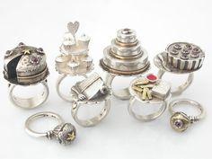 Pretty cake rings by Adeline Joubert