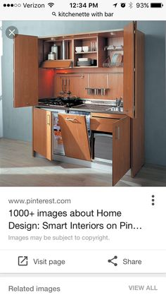 Kitchen ArmoireKitchen ModelsCompact KitchenCompact BathroomSmall  KitchensModern KitchensStudio KitchenMini KitchenDishwasher