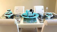 Breakfast at Tiffany's Bridal Shower — Allison Affourtit Creative Tiffany's Bridal, Bridal Shower, Breakfast At Tiffanys Party Ideas, Tiffany Party, Cool Themes, Brunch, Table Decorations, Creative, Shower Party