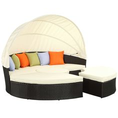 Quest Canopy Daybed EEI-983-EXP-WHI-SET by LexMod