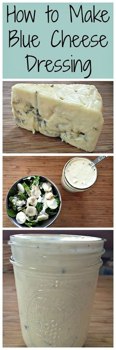 Homemade blue cheese salad dressing is easy to make and super tasty!