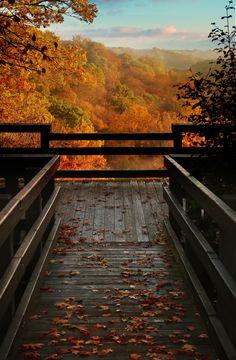 Autumn Overlook by Robert Blair scene taken from the overlook deck at Tinker's Creek Gorge in northeastern Ohio.