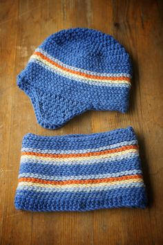 boy  blue hat and cowl