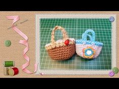 Tutorial mini cesta de crochet / Tutorial mini crochet basket by Pepitas de Chocolate