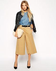 ASOS - Gonna pantalone lunga con cintura con fibbia