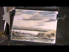 Cornish Coast impression. Watercolour