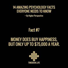 For the average American, $75k a year buys happiness. It liberates you from poverty and gets you what you need in life.  Discover ways to improve your life with www.timebook.life