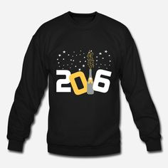 Happy New Year 2016 Sweatshirts, Tees and more. #party #champagne