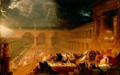 John Martin England) Dramatic landscapes 1 John Martin was an English Romantic painter and one of the most popular artists of his day. Rembrandt, Caravaggio, Gustave Dore, Claude Monet, Infinite Art, English Romantic, Google Art Project, John Martin, Heaven And Hell