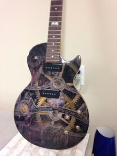 Front of guitar I wrapped