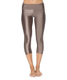 Look at this #zulilyfind! Bronze Crave Capri Leggings #zulilyfinds                                                                                                                                                                                 More