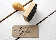 """Stempel """"aus meinem Garten"""" // garden stamp by dueTori via DaWanda"""