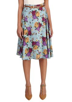 Breathtaking Arrangement Skirt. This morning, a bundle of bright flowers was waiting at your door. #blue #modcloth