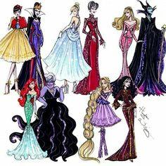 Disney Princesses & Villans