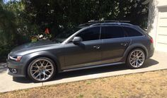 Gray Audi Allroad with BBS Wheels