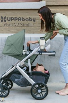 UPPAbaby's Vista V2 Stroller is easily transitioned from one to a double, twin, or triple with the piggyback for your older kid!