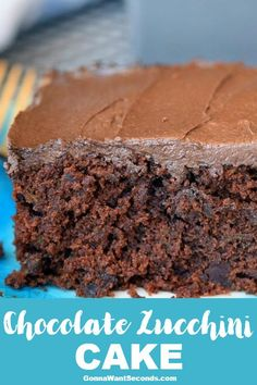 Our Super Moist, Deeply Chocolate, Chocolate Zucchini Cake, Is Truly So Delish, You May Swoon! It May Be One Of The Best Overall Cake Recipes I Make!! #Zucchini #ChocolateCake