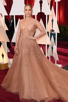 Just WOW, right? Never going to forget how gorgeous Jennifer Lopez looked in this Elie Saab Haute Couture gown at the Oscars.
