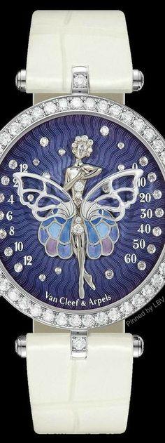 Van Cleef & Arpels Lady Arpels Ballerine Enchantée   LBV ♥✤ Van Cleef Arpels, Van Cleef And Arpels Jewelry, Stylish Watches, Luxury Watches, Datejust Rolex, Olivia Burton, Audemars Piguet, Beautiful Watches, High Jewelry
