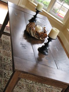 Farmhouse style dining table at Lipstick and Sawdust