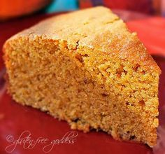 Karina's sweet potato cornbread is gluten-free.