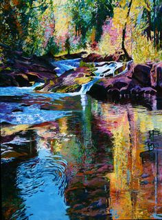 "Artist Ellen Dittebrandt; Painting, ""Lower Pools """