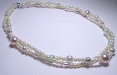 Handmade OOAK Set of 4 Vintage Pearl Necklace by ChandiniGems