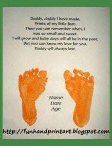Father's Day Handprint and Footprint Art Gift Ideas - Fun Handprint Art