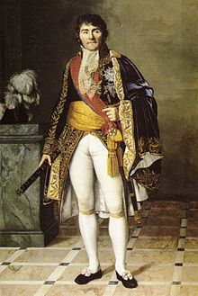 Gen. François Joseph Lefebvre (1755-1820)  commanded the Paris troops and reluctantly agreed to support Napoleon Bonaparte in his coup d'état. In the year 1800 Bonaparte appointed him senator and Marshal of France in 1804.