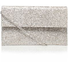 Didi Carvela Kurt Geiger Silver ($56) ❤ liked on Polyvore featuring bags, handbags, clutches, silver, slouchy handbags, slouchy purse, slouch purse, silver glitter purse and silver handbag
