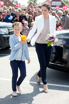 Princess Isabella of Denmark, accompanied by her mother Crown Princess Mary of Denmark, names a Ferry after herself at Saelvig Harbour during her first day of official engagements onThe Island Of Samso on June 6th, 2015 in Samso, Denmark
